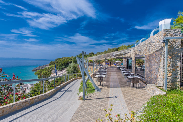 skopelos hotels adrina resort lunch restaurant